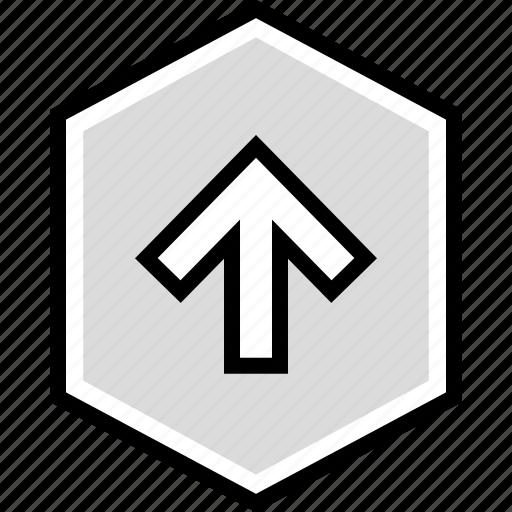 arrow, information, user icon