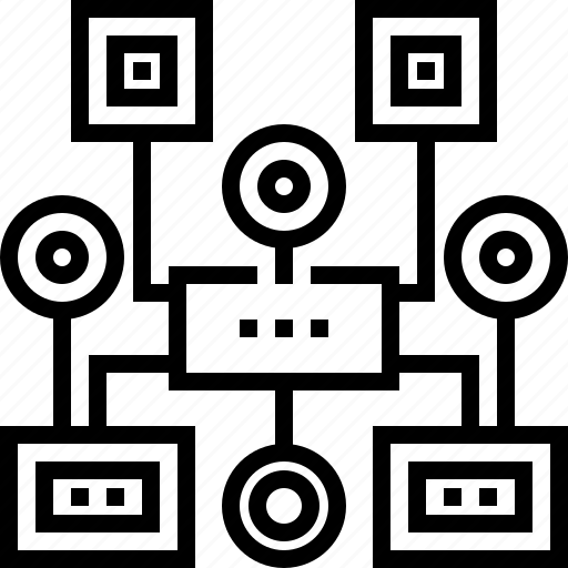 algorithm, chart, development, organization, program, seo, web icon
