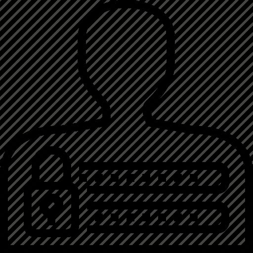access, development, lock, login, password, secure, web icon