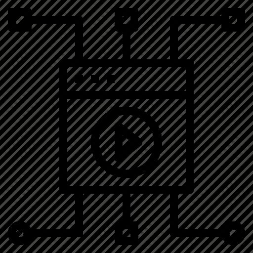 backlink, link, media, webpage icon