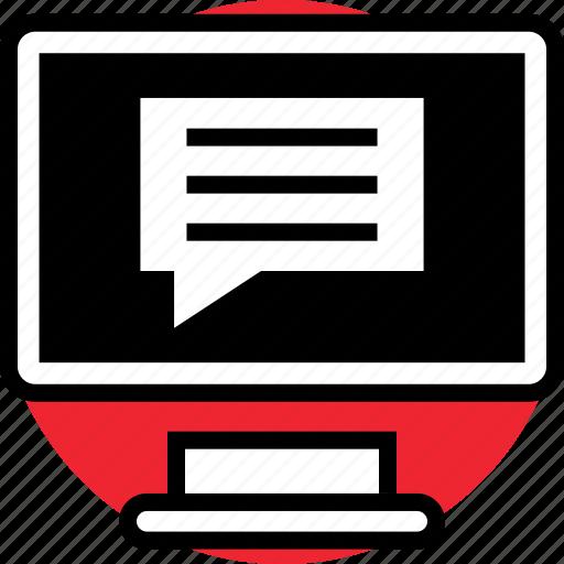 activity, bubble, pc icon