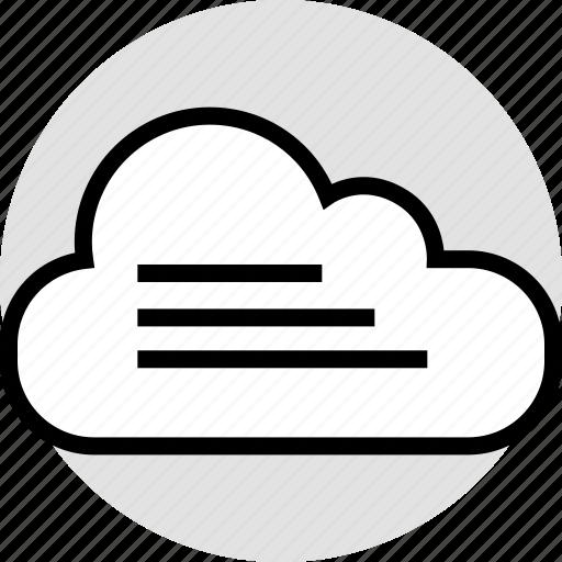 activity, cloud, data, lines icon
