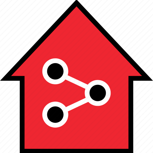 home, network, networking icon