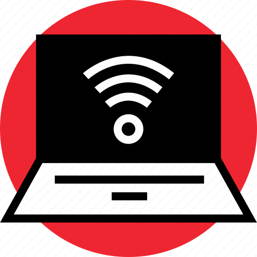 activity, laptop, signal icon