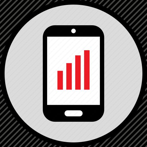 bars, data, mobile icon