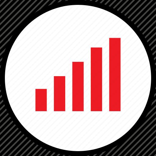 bars, graph, seo, up icon