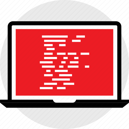 code, developer, lines icon