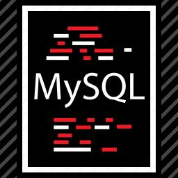 developer, lines, mysql icon