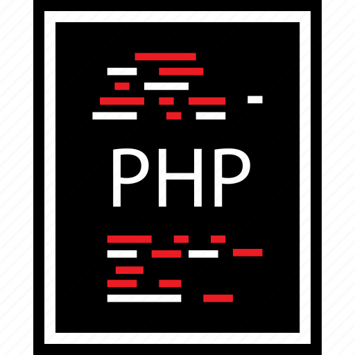 developer, lines, php icon
