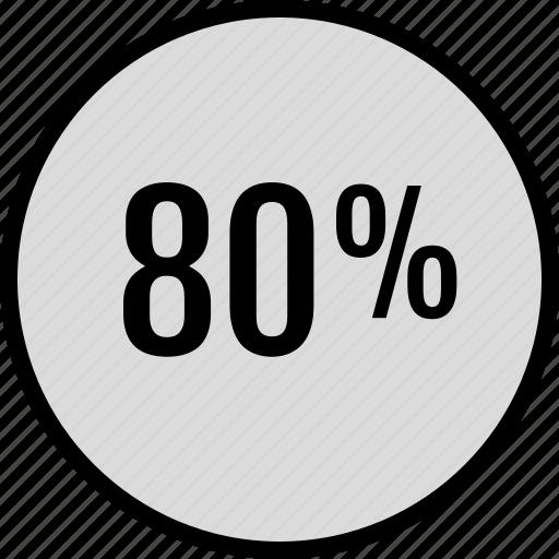 data, eighty, percent, seo icon