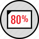 eighty, percent, web icon