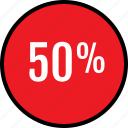 data, fifty, percent, seo icon