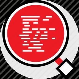 code, development, find, web icon