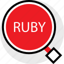 developer, find, ruby, web icon