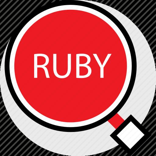 developer, find, ruby, web icon