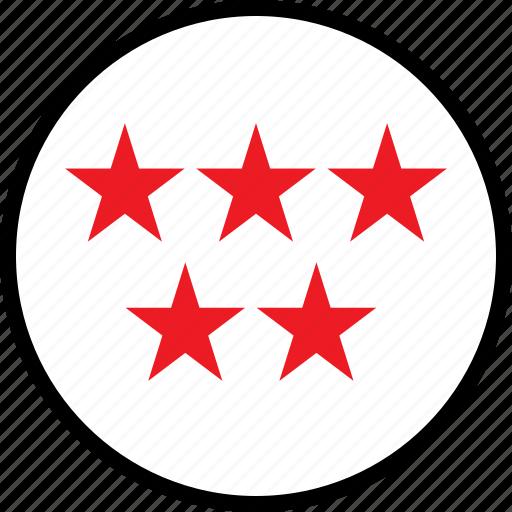 data, five, seo, stars icon