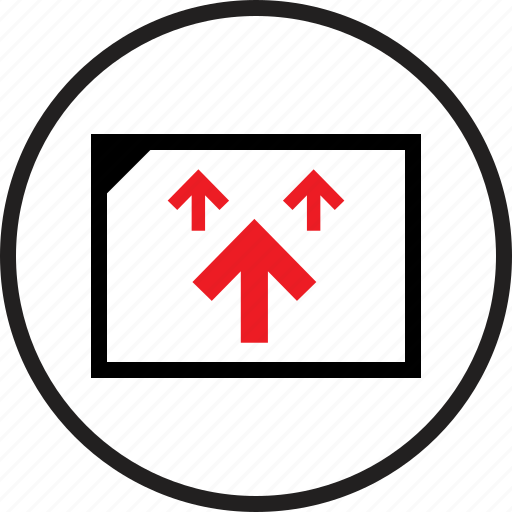 arrows, infographic, upload icon