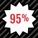 infographic, ninetyfive, percent icon