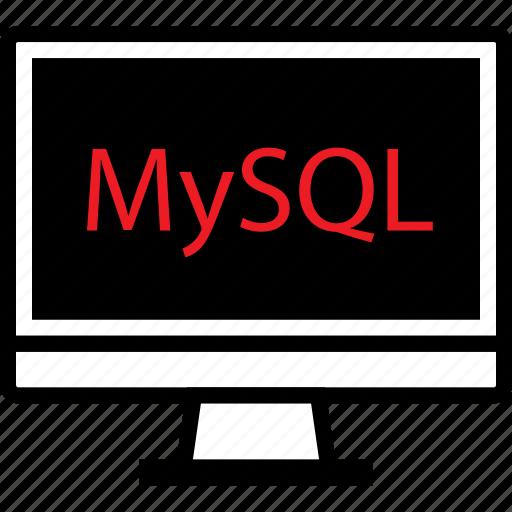 development, mysql, web icon