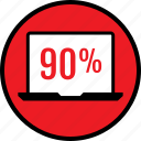 ninety, percent, seo, web icon