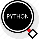 developer, find, python icon