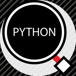 developer, find, python icon