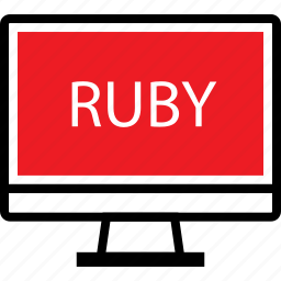 development, ruby, web icon