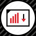 arrow, down, seo, web icon
