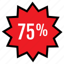 five, percent, seventy icon