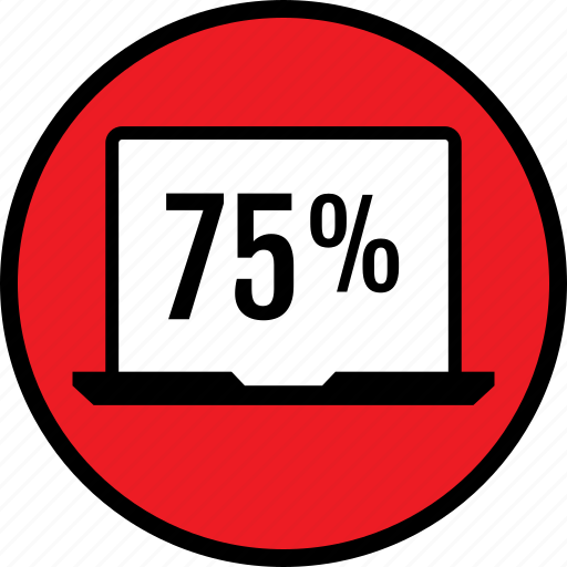 five, graphic, percent, seventy icon