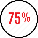 percent, rate, seventyfive icon