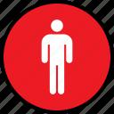 person, single, user