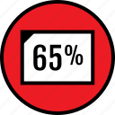 percent, rate, sixtyfive icon