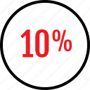 percent, rate, seo, ten icon