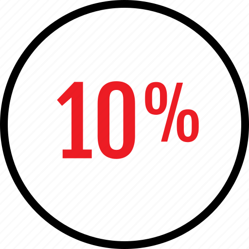 percent, rate, seo, ten icon