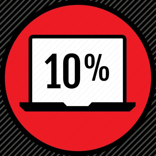 percent, seo, ten, web icon