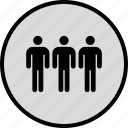 data, person, seo, three icon