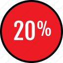 infographic, percent, twenty icon