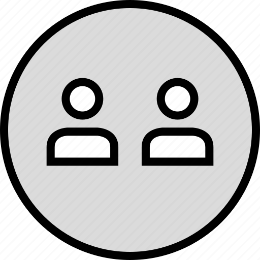 information, person, two, user icon