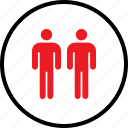 person, two, users icon