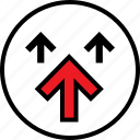 arrows, information, three, up icon