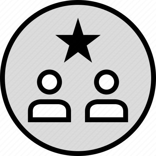 person, star, users icon