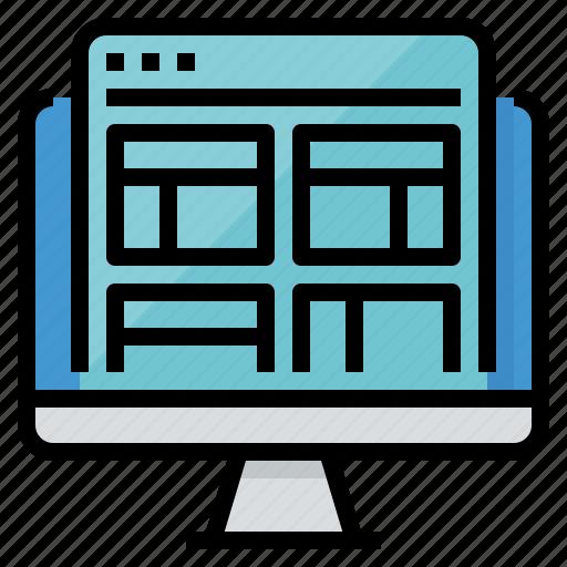 design, develop, layout, website icon
