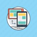 user interface plasticity, responsive web design, rwd, web design, seo, web development icon