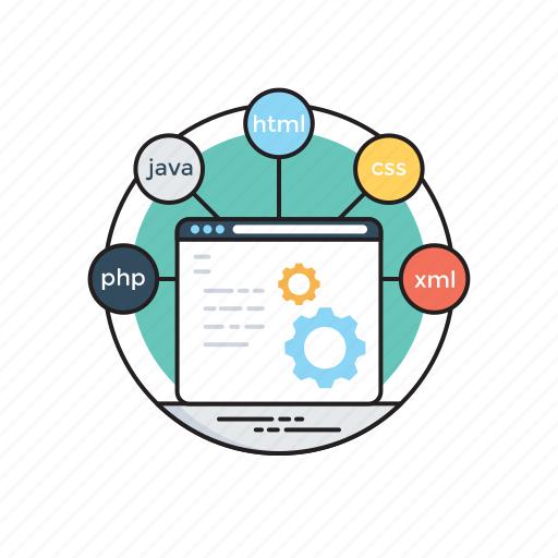 html, programming, web coding, web development, web programming icon
