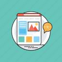web template, web page, web layouts, web design, website development icon