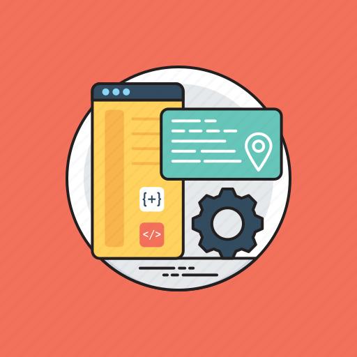 application development, software application, web app, web application, web development icon