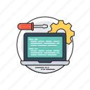 web content management, web application management, web management, software management, web performance management icon