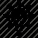 brain storming, brainstorming, bulb, creativity, idea, light settings, settings icon