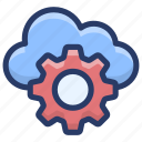 cloud computing, cloud configuration, cloud management, cloud setting, cloud technology icon